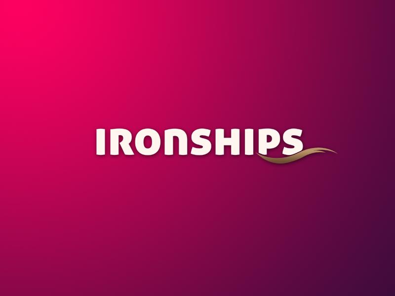 Logo design - Ironships creative  design wave photoshop brand designconcept iron ship branding brand identity ui vector typography branding creativity logo concept art concept design