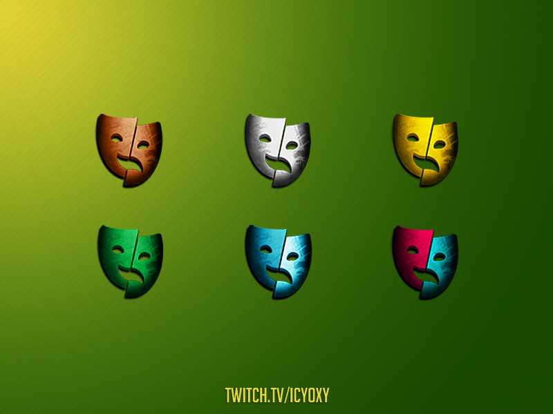 Loyalty Masks streamer twitch logo twitch overlay twitchemote twitch.tv twitch abstract art artwork web icon ui vector branding illustration imagination creativity concept art concept design