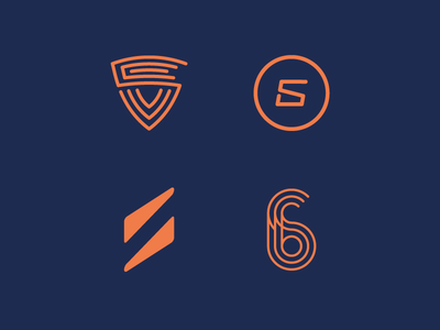 Logo Concepts for Sixpack PT sport fitness minimal 6 s pack training personal training six sixpack logo