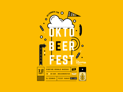 Oktoberfest Beer Poster advert invitation festival party artwork oktober event poster beer oktoberfest