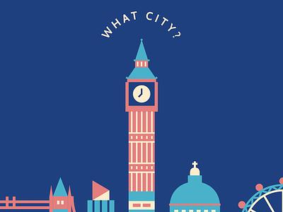 Cityscape London Illustration in Progress big ben bridge house illustration skyline cityscape city london