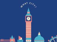 Cityscape London Illustration in Progress