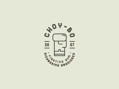 Choy-Bo Fighting Gym logo concept glove karate type lettering logo kickboxing boxing box gym fighting