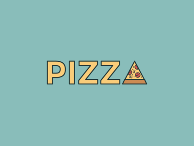 Oh boy, who's in for pizza? monogram desginletter type design logo design italy type lettering food pizza