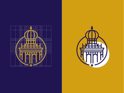 Logogrid Stad'sGoud (Gold of the City) icon branding groningen tower city brand logogrid grid logo