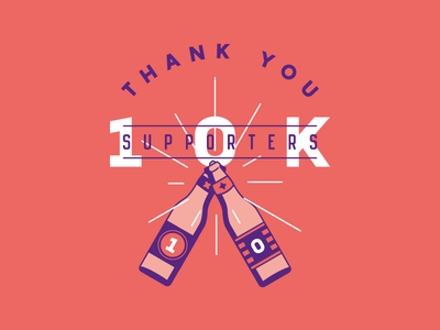 10.000 followers on Instagram!  weekend badge cheers beer thanks support instagram followers 10000 10k