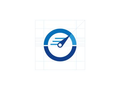 Bilingual Communications final logo mark design b c speedometer stopwatch translate document text grid speed logo