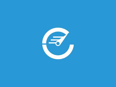 Bilingual Communications final logo (mono) mark design b c speedometer stopwatch translate document text grid speed logo