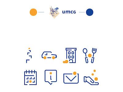 Event icons ICPA/UMCG illustration duotone outline event iconset icon