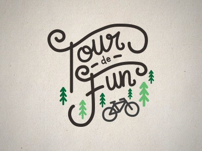 Tour de Fun 2017 Logo cycling handlettering handdrawn logodesign logo