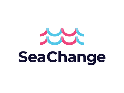 Sea Change plastic waste grocery bag recycled waves sea ocean recycle visual identity brand identity logo design logo branding