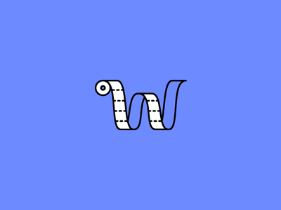 W illustration icon bathroom toilet roll w typography tissue toilet paper