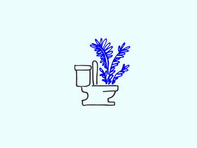 Forest Friendly forest friendly leaves illustration bathroom toilet