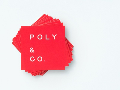 Poly & Co. Business Card branding business card logo
