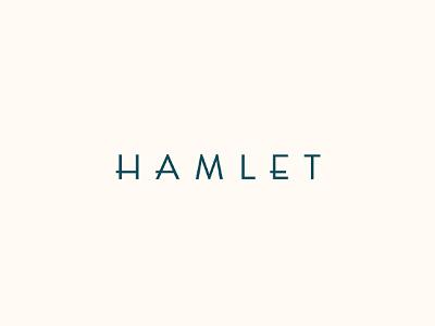 Hamlet Logo typography lettering branding logo