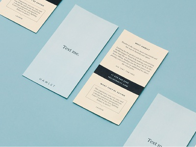 Hamlet Postcard branding design typography print