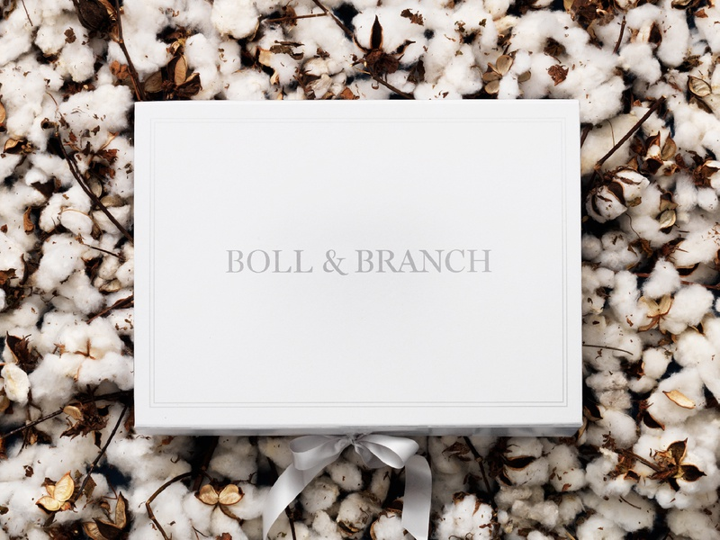 Boll & Branch Packaging typography bedding cotton branding logo packaging