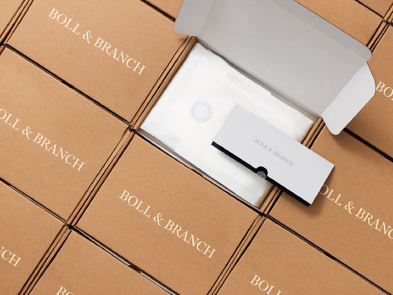 Boll & Branch design branding logo packaging