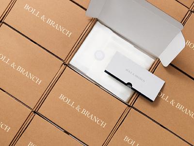 Boll & Branch design branding logo packaging