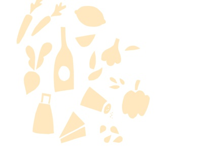 Cut paper ingredients design icon ingredient illustration food