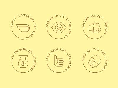 Icon explorations badge design branding icon illustration