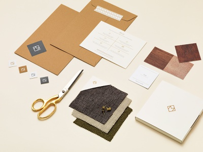 Maiden Home swatch kit home goods sticker design packaging
