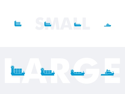 Responsive containership icons