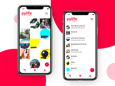 Pylife Channel overview channel social minimal kickstarter iphonex iphone interface design dashboard app chat