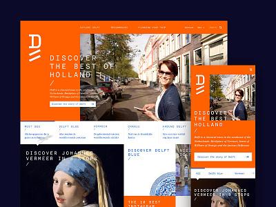 Delft Tourism holland dutch city branding website culture art vermeer city travel tourism delft