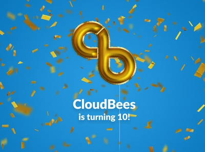 Happy Birthday CloudBees! everything gold balloon magic photoshop