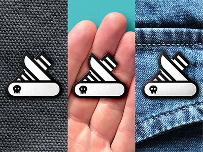Enamel Pins! print merch pin logo icon vector design branding
