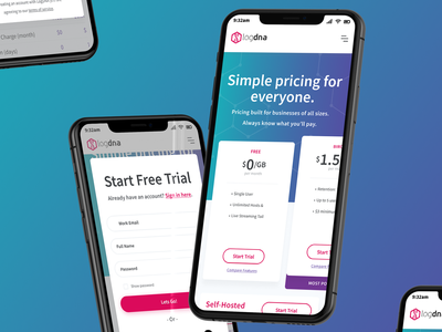 Pricing Page - Phone (Responsive) landing overlay modal trial mockups iphone hero illustration page pricing page pricing design web responsive phone mobile ios ux ui card