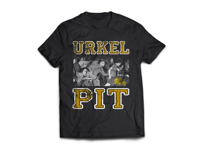 Urkel Pit shirt band merch pop punk illustration typography screen print