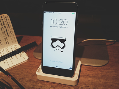 Stormtrooper Helmet iPhone Background