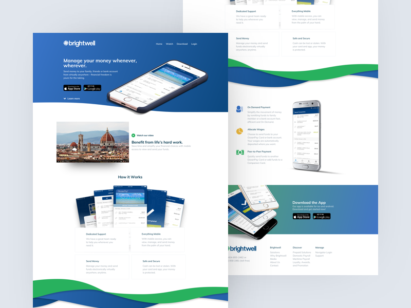 Brightwell Landing Page (Concept) flow ribbon vibe dope screens sick shots product design web mobile