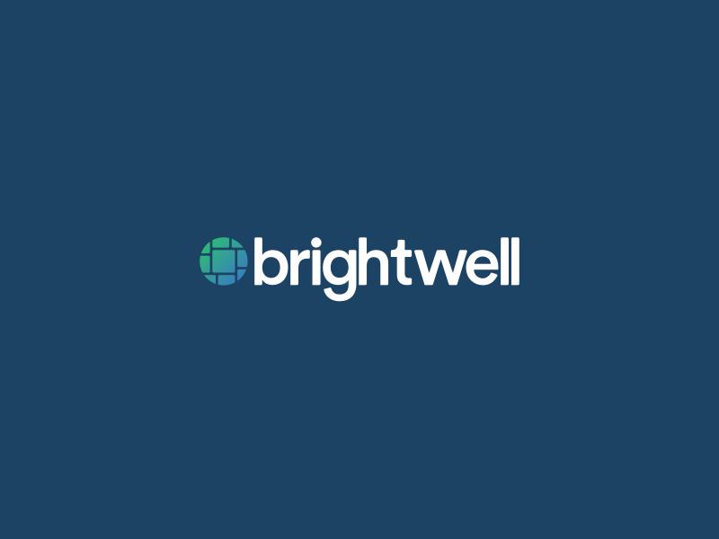 Brightwell Logo Refinement branding company lockup submark identity logo