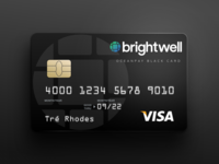 Black Card Template