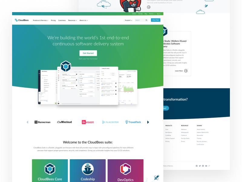 Homepage (Option 2) illustration ui ux card af clean homepage page landing website design web