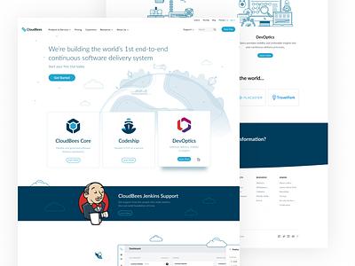 Hompepage (Option 1) illustration ui ux card af clean homepage page landing website design web