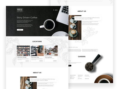 Brew Coffee Bar Homepage