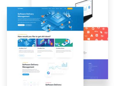 CloudBees - 2020 Homepage Exploration identity design branding devops landing page web design hero image ux ui