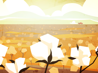 Turnipseed Flashback Styleframe animated short illustration environment design concept motion design animator visual development field plantation southern motion graphics design for animation animation geometric grunge texture cotton cotton field