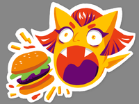Vinyl Sticker - Burger Demon