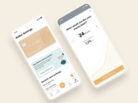 💰Banking App - Savings mobile ui mobile banking design app user experience illustration ux clean ios app ios apple savings saving bankingapp uiux ui banking app banking