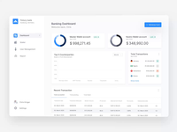 Transaction Flow - Banking Dashboard transactions clean motion balance kpi backend transactional smart dashboard banking app graphs animation ux bankingapp banking ui transaction