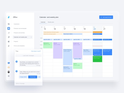 📅 Calendar and weekly Plan timeline user interface design userinterface design desktop app web webapplication overview fintech dashboard clean ux ui calendar webapp