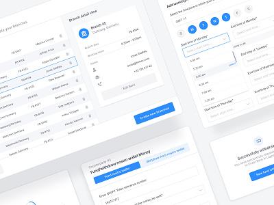 🧩 Dashboard Modules - Banking finance minimal clean popover popup table view input interface dashboard ui dashboad fintech app ux ui fintech