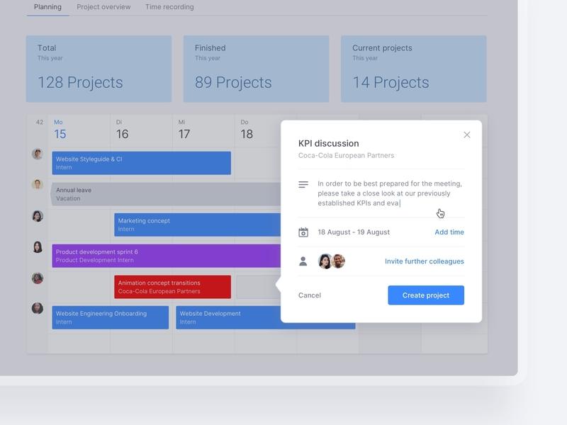 Dashboard - Project Timeline task task app timeline design digital product product design kpi project management pm timeline dashboard user experience user interface dashboad