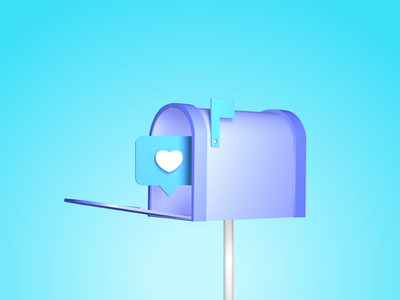 Contact Us - 3D Illustration animation design c4d contact 3d ux website web