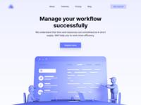 Workflow Landingpage - 3D Illustration